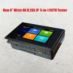 Nieuwe 4 pols 4K H.265 IP CVBS CVI TVI AHD 5-in-1 CCTV Tester Handheld HD Combineren Hybrid
