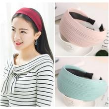 AIKELINA Fashion Extra wide Women Hairbands Girls Knitting Durable Clean Face Headband Wide Hair Bands Headwear Hair Accessories