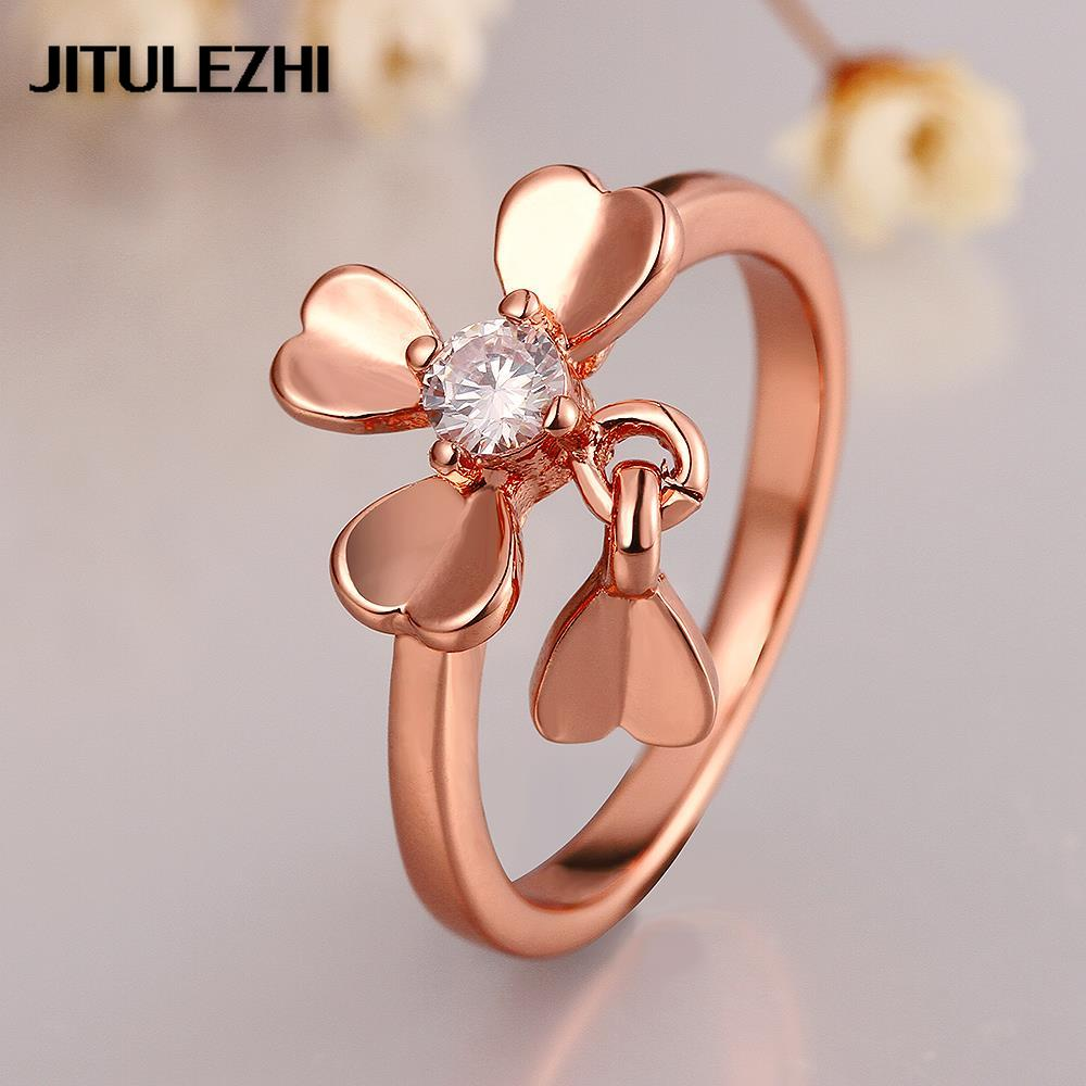 joias ring new from rose on bridal engagement wedding classic big stone brazilian jewelry plated female rings in gold color item ouro accessories for