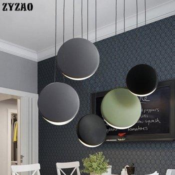 Skandynawskie post nowoczesne minimalistyczne lampy wiszące salon jadalnia wisiorek led podłużna lampa kreatywna kuchnia lampy wiszące w Wiszące lampki od Lampy i oświetlenie na