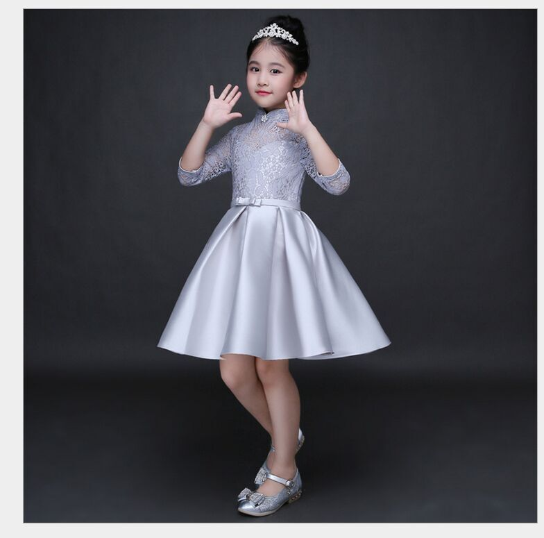 HTB1PBCSQFXXXXaKaXXXq6xXFXXXf - Baby Girl Kid Evening Party Dresses For Girl Wedding Princess Clothing 2017 New Solid Color Bow Moderator Dress Children Clothes