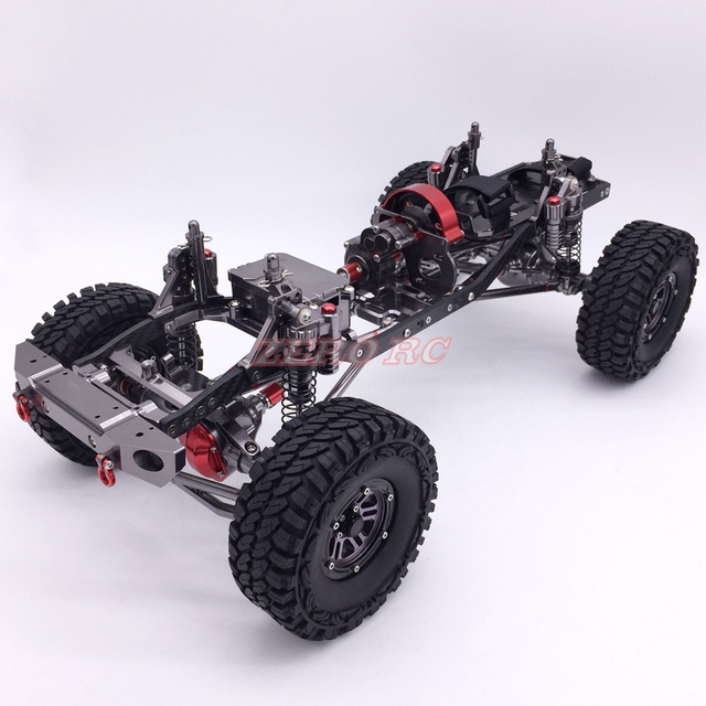 cool racing cnc aluminum and carbon frame axial scx10 chassis 313mm