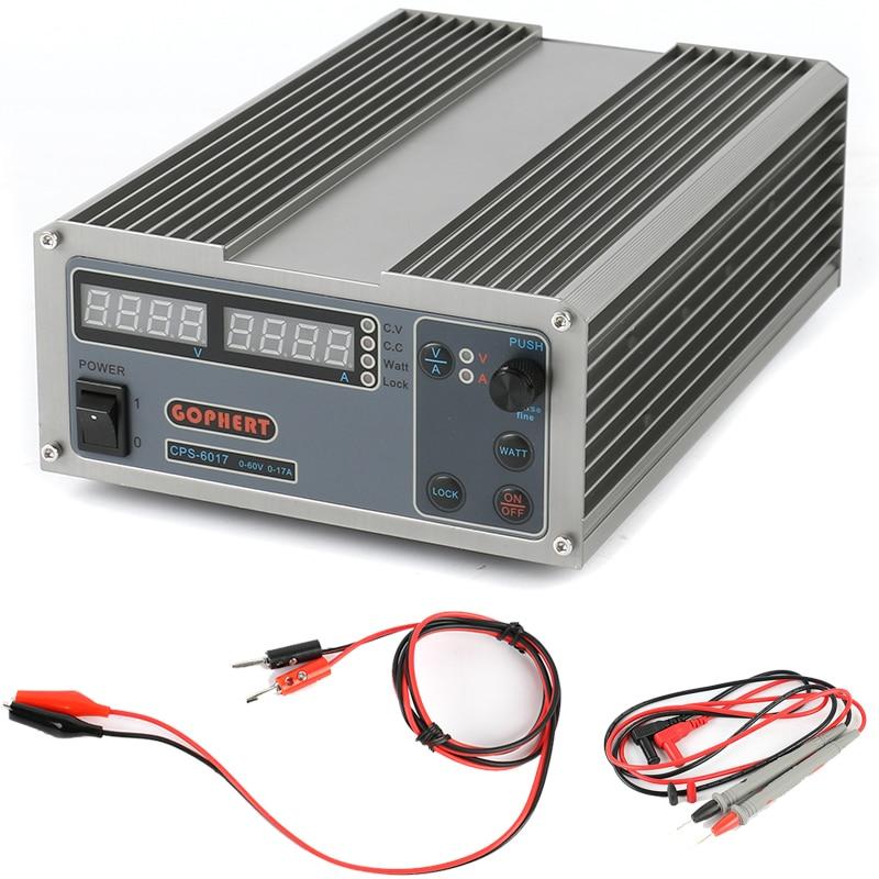 Высокая Мощность цифровой регулировкой Питание CPS-6017 1000 Вт 0-60 В/0-17A лаборатории