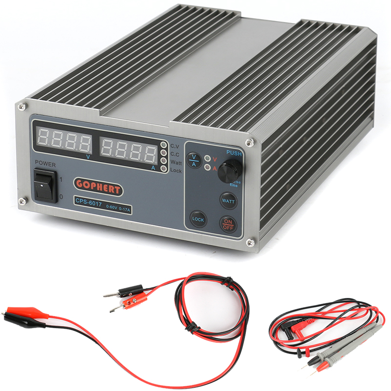 High Power Digital Adjustable DC Power Supply CPS-6017 1000W 0-60V/0-17A Laboratory cps 6011 60v 11a digital adjustable dc power supply laboratory power supply cps6011