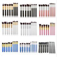 10pcs Professional Makeup Brushes Set Brush Cosmetics Kits Maquiagem For Foundation Powder Concealer Blending Eyeshadow 9colors