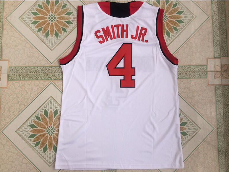 buy online 9b80c c254d Dennis Smith Jr. Jersey 4 NC State College Basketball Jersey Men's Retro  Sport Shirt All stitched
