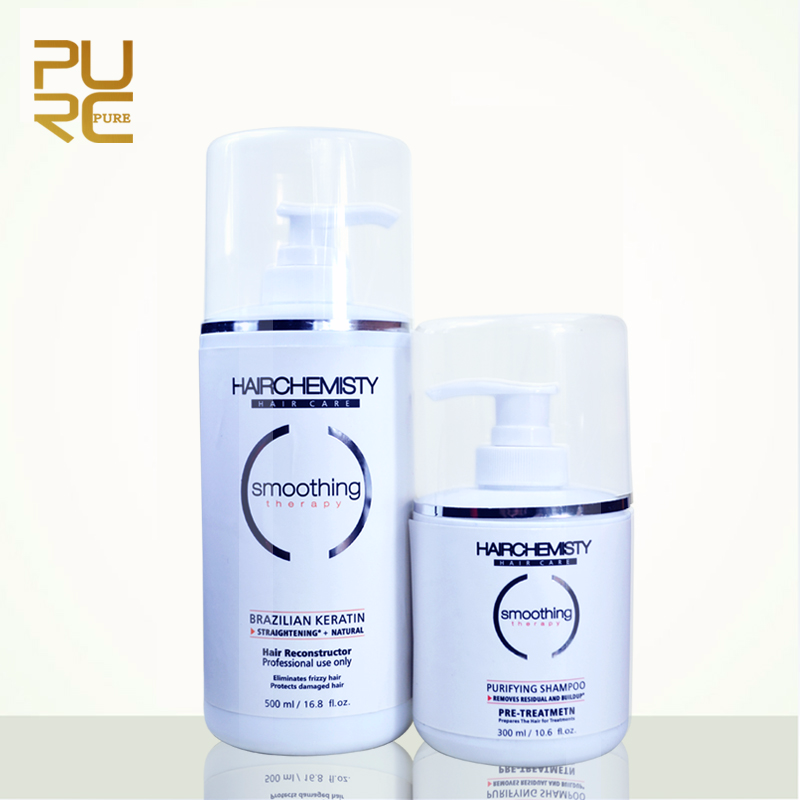 Hair Care 300ml Hair Purifying Shampoo Befor Keratin and 500ml 8% for The Strongest Resistant Brazilian Keratin Treatment