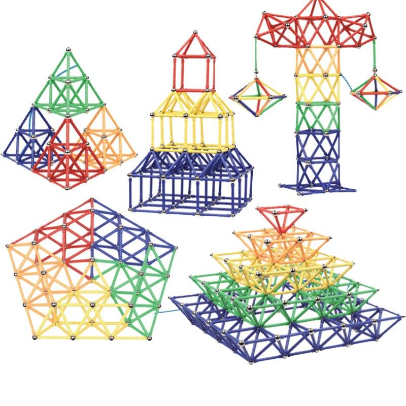 Building & Construction Toys 100pcs Magnetic Blocks Magnets Balls Magnet Sticks Beads Educational Diy Construction Sets Kit Toys For Children Designer Toys & Hobbies