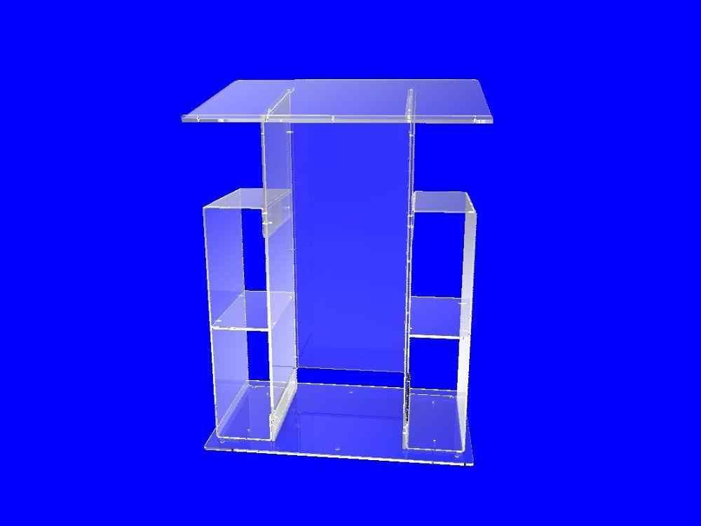 Leuchte Displays Deluxe Plexiglas Acryl Klar Podium Kanzel Rednerpult