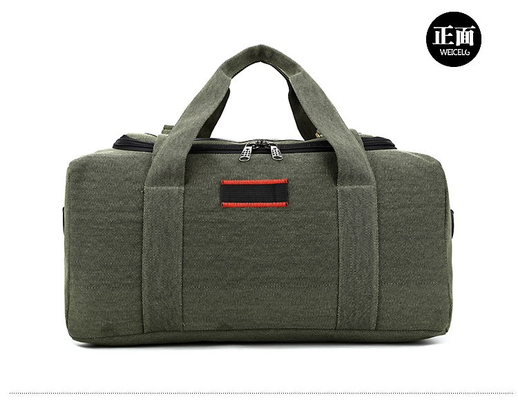 Men Outdoor Casual Canvas Gym Travel Duffel Bag Large Capacity High Quality Messenger Crossbody Shoulder Tote Travel Bags (10)