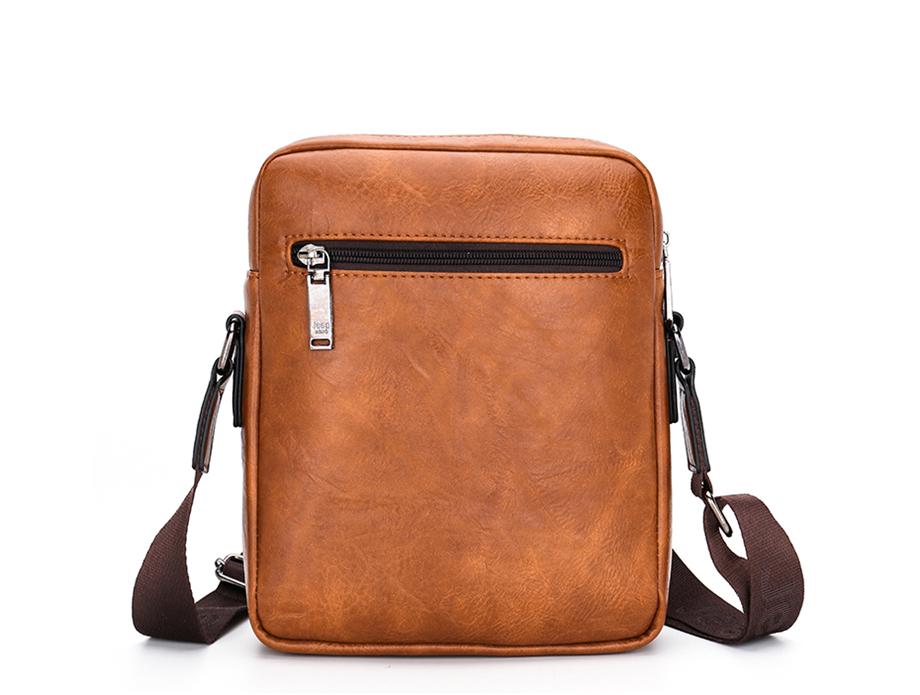 JEEP BULUO Luxury Brand Men Messenger Bags Crossbody Business Casual Handbag Male Spliter Leather Shoulder Bag Large Capacity 23