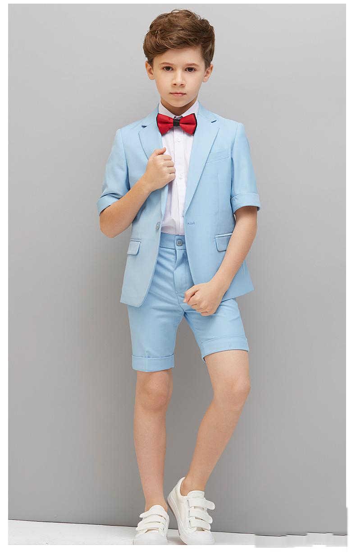 Зеленые смокинги для мальчиков на свадьбу, приталенные костюмы на одной пуговице с лацканами, детский вечерние ный костюм (пиджак + штаны + жилет + B