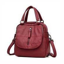 2019 Vintage Leather Backpacks Women Travel Shoulder Bag Sac A Dos School Bags For Girls Bagpack Woman Backpack Mochila Feminina цены