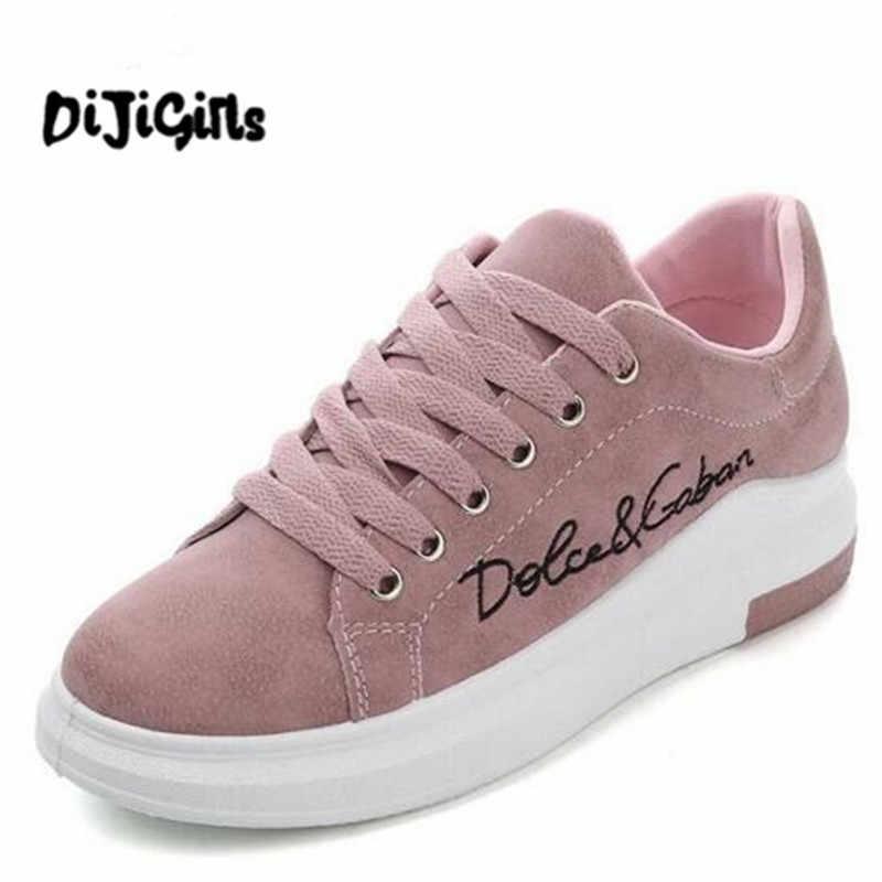 2f433b234 2018 Весенние новые дизайнерские туфли на танкетке розовые сникерсы на  платформе женская Вулканизированная обувь tenis feminino