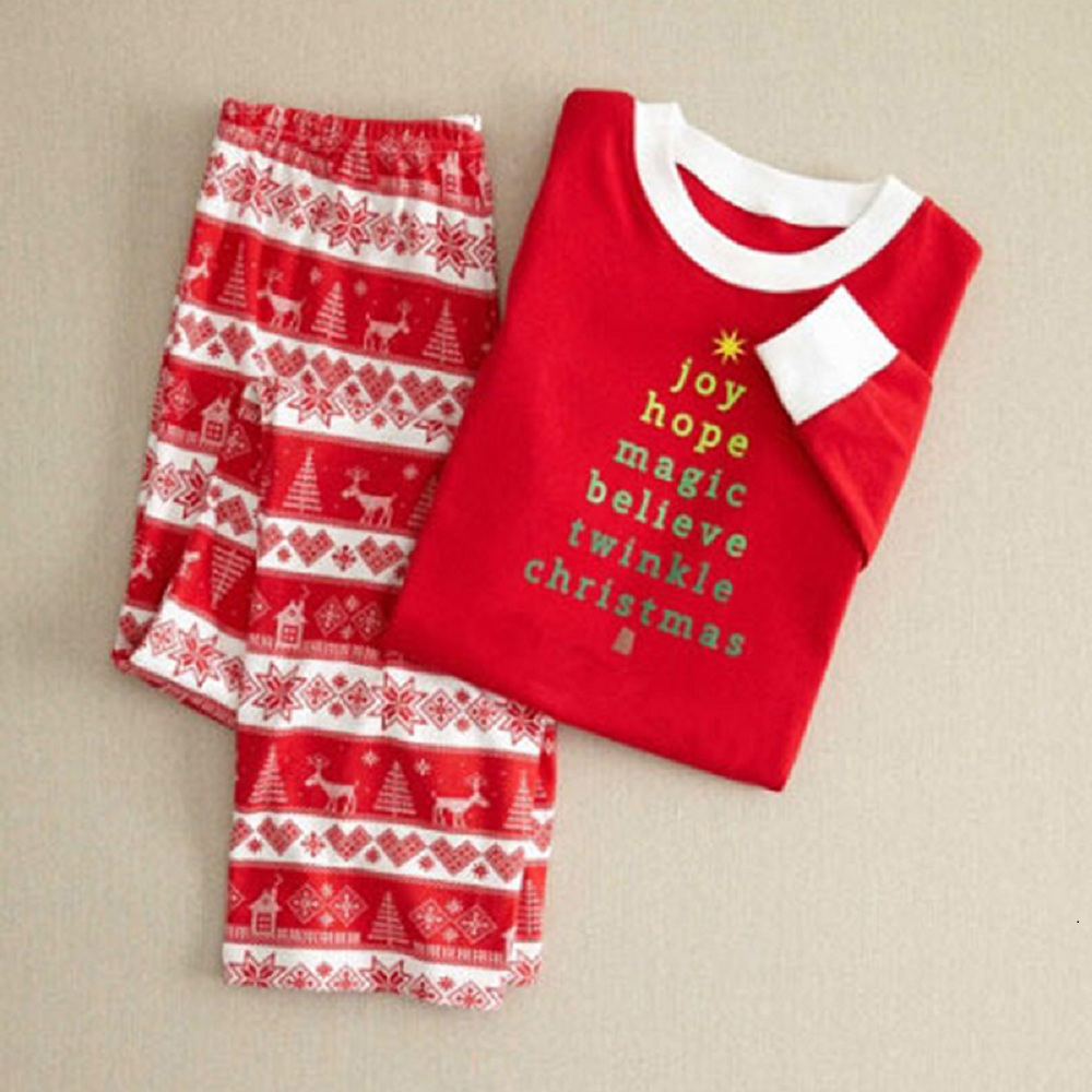 ded63dade9 2018 Family Christmas Matching Clothes Family Pajamas Mother Father Kid  Outfits Print Matching Family Shirts+Pants Clothing Sets-in Matching Family  Outfits ...