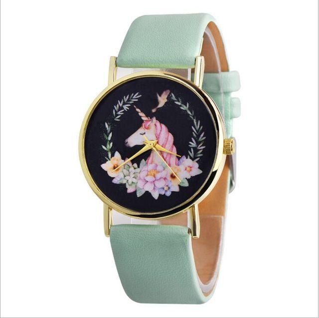 Elegant Casual Cute Unicorn Quartz Wristwatches For Women