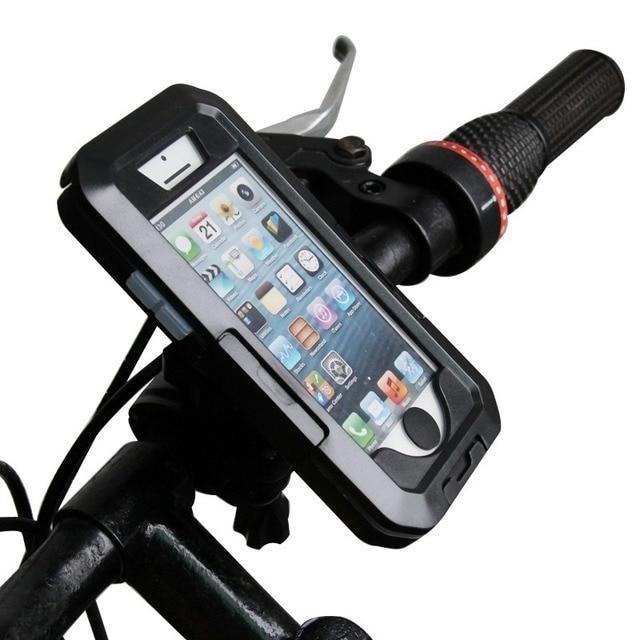 Universal moto bicicleta da bicicleta da bicicleta waterproof titular zipper caso monte suporte suporte de para celular telefone móvel gps para iphone 5 5s 5C