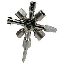 Chave de carro multifuncional 10 em 1, chave de carro quadrada universal com elevador, caixa de armário