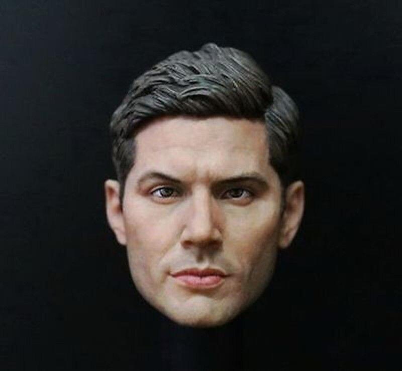 1:6 Supernatural Dean Winchester Jensen Ackles Male Head Sculpt For 12 Action Figure Body Toys