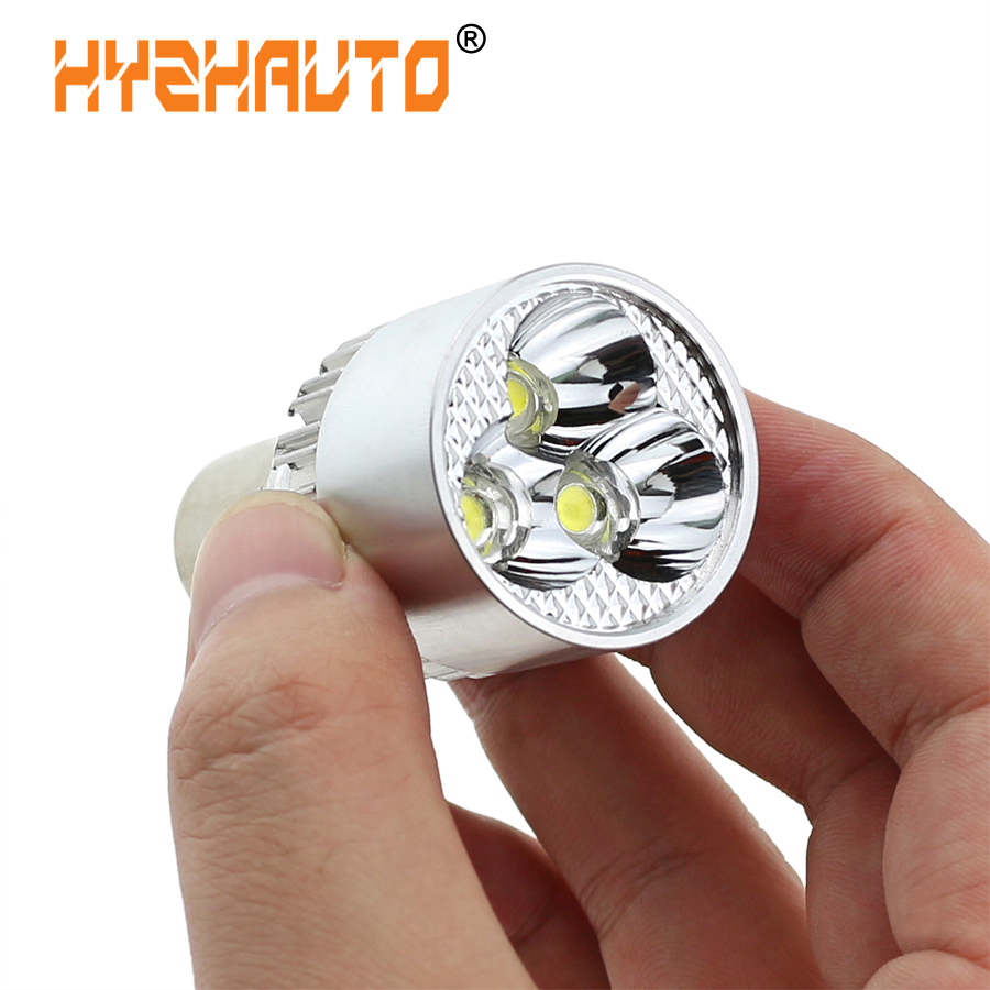 HYZHAUTO H6 BA20D Motorcycle Fog Light COB Bike Scooter ATV Motor Headlight Lamp Bulb DC 12-80V 6500K White 9W 800LM 1PCS
