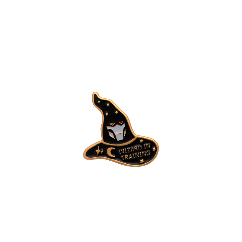 Glorious Star Moon Witches Wizard Magic Hat Badge Enamel Pin For Denim Jacket Oil Drop Collar Corsage Accessories Scarf Buckle Sc4117 Cheap Sales 50% Home & Garden