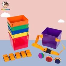 Happymaty Kindergarten Kids Teamwork Game Throwing  Sandbag and Catching Balls Fun Indoor Outdoor Toys For Children