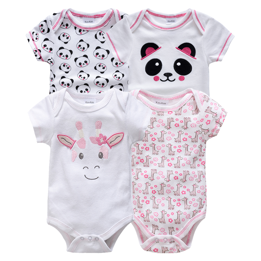 Kavkas/одежда для сна для маленьких мальчиков, комплект из 4 шт./компл., одежда с короткими рукавами для новорожденных, пижамы для мальчиков, Infantile, одежда для сна для маленьких мальчиков
