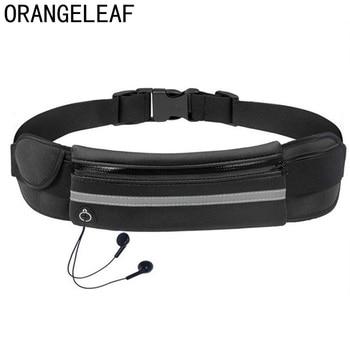 цена на Waterproof unisex waist pack men fanny pack women belt bum bag Reflective Strip waist bag male phone wallet Pouch Bags Patchwork
