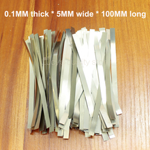 100g/bag Welding nickel plate 18650 battery spot welding pure plated steel 0.1MM thick *5MM wide