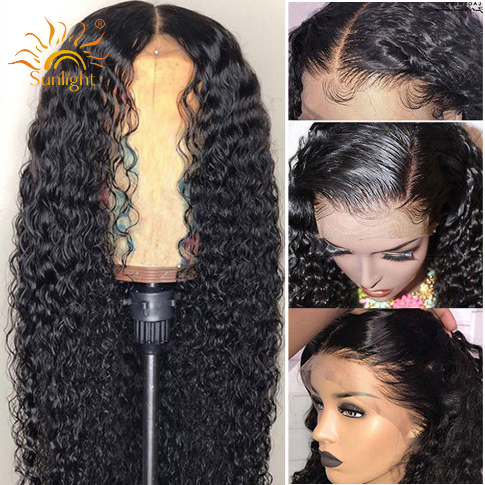 Water Wave Wig 360 Lace Frontal Wig Pre Plucked With Baby Hair Sunlight Peruvian Remy Lace