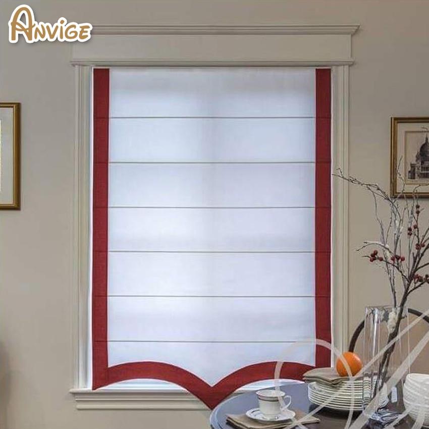 Customized Curtain Cotton Linen F Roman Blinds Roman Shades Window Blind Fabric Blinds Shades Shutters Aliexpress