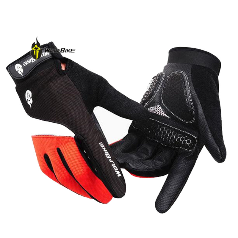 WOLFBIKE Cool Outdoor Cycling Gloves Road Mountain Riding Mountaineering Military Sports Long Finger Mens Gloves