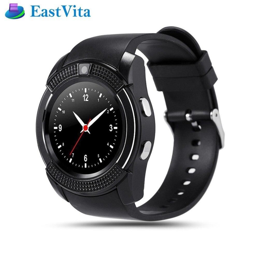 Eastvita v8 cámara bluetooth del teléfono smartwatch con reloj notificación de l