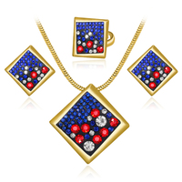 Indian Jewelry Antique Silver Gold Color Turkish Jewelry Set Fashion Enamel And Resin Vintage Ethnic Jewellery