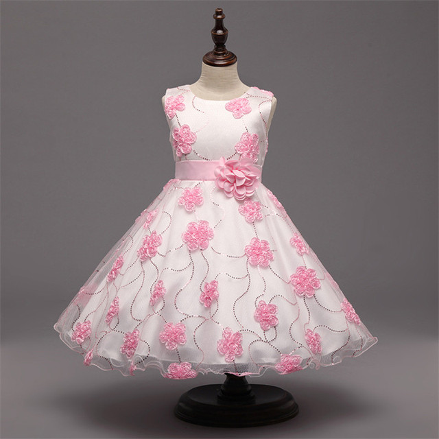 ab7824a15a1d Nuovo Tutu Vestito Dalla Ragazza di Fiore Per La Cerimonia Nuziale Del  Partito Elegante vestito del