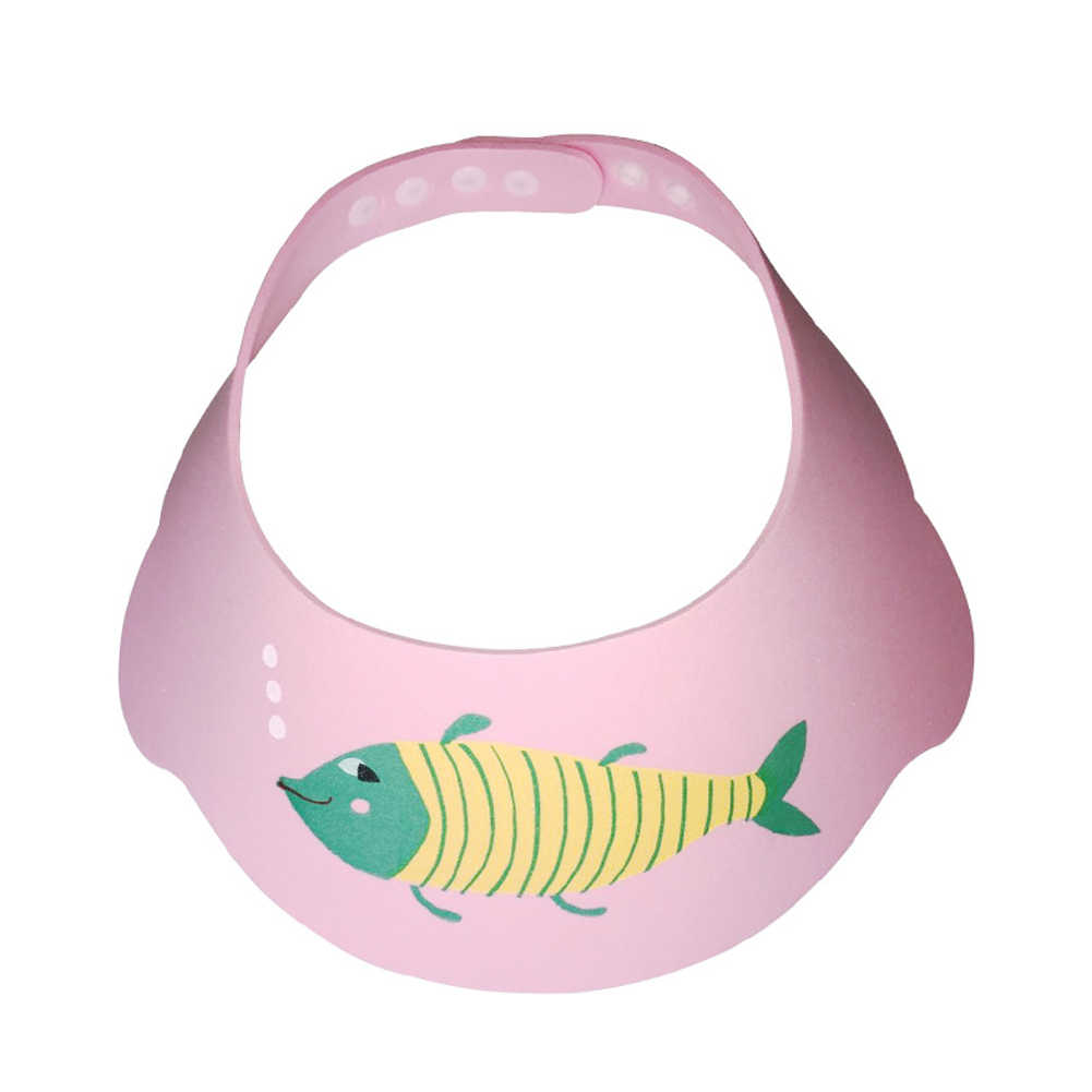 الشمس قناع دش الشعر غسل الطفل قبعة الأطفال مرنة لطيف قابل للتعديل إيفا درع الكرتون المياه رش مهرجان الاستحمام