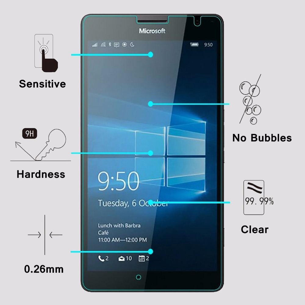 GUOSHU Premium Tempered Glass Screen Film 100 PCS for Nokia 6 0.26mm 9H Surface Hardness 2.5D Curved Tempered Glass Screen Protector Film Anti-Scratch Screen Protector