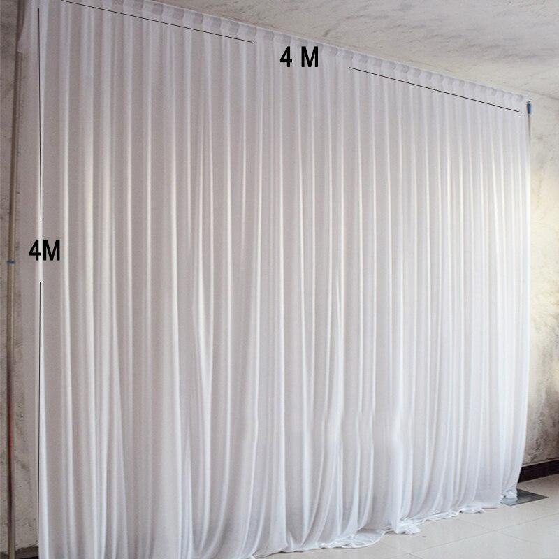4x4 M lodu tkaniny jedwabne zasłony panele wiszące party tło zasłony dekoracje ślubne serwet wydarzenia tło tkaniny dla etap w Tła imprezowe od Dom i ogród na  Grupa 2