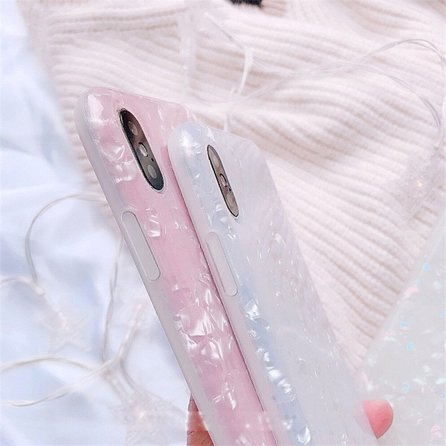 Luxury Glitter Phone Case For iPhone 7 8 Plus Dream Shell Pattern Cases For iPhone XR XS Max 7 6 6S Plus Soft TPU Silicone Cover 4