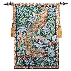 80x118 см картина Вильям Моррис Павлин настенный гобелен из Бельгии гобелен тканевый настенный ковер ткань марокканский декор
