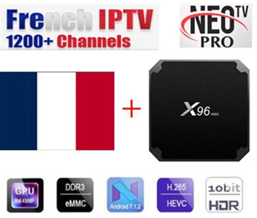 X96 mini Android box avec Neotv IPTV français IPTV arabe Enghlish 1200 + Live 2000 VOD 4 k TV IPTV US UK x96mini Smart tv