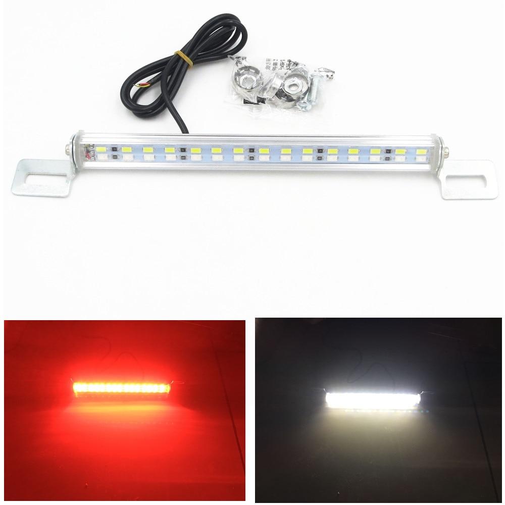 Голубой залив почвы машине 30 LED 7,5 Вт свет бар тормоз хвост заднего номерного знака Лампа красный белый
