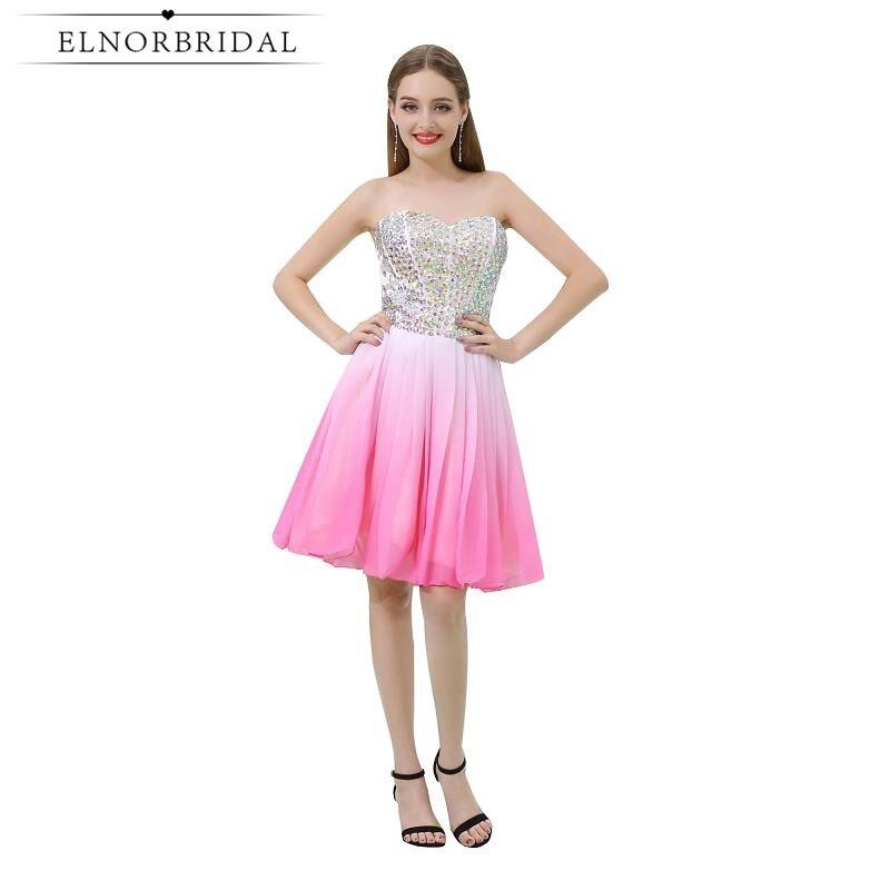 94cfc4c781f Modest Pink Beading Cocktail Dresses 2019 Sweetheart Short Prom Dress Girls Vestido  De Festa Curto De Luxo Mini Party Gowns