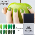 1 Bottle BORN PRETTY Green Series Soak Off UV Gel Polish 10ml Long-lasting Manicure Nail Art Gel Varnish