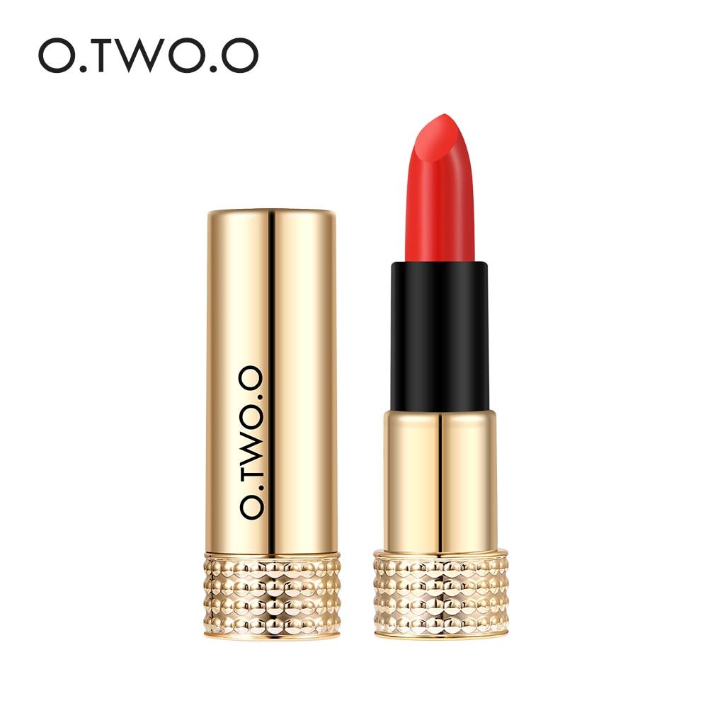 O.TWO.O 12 Colors Pro Matte Lipstick Makeup Beauty For Women Pink Baby Nude Lips Matt Balm Waterproof Batom Make Up Cosmetic