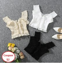 2019 Summer Autumn New Women Tank Top White Black Crop Top Lace Up Bandage Tops Sexy Sleeveless Camis Sweet AA021S50(China)