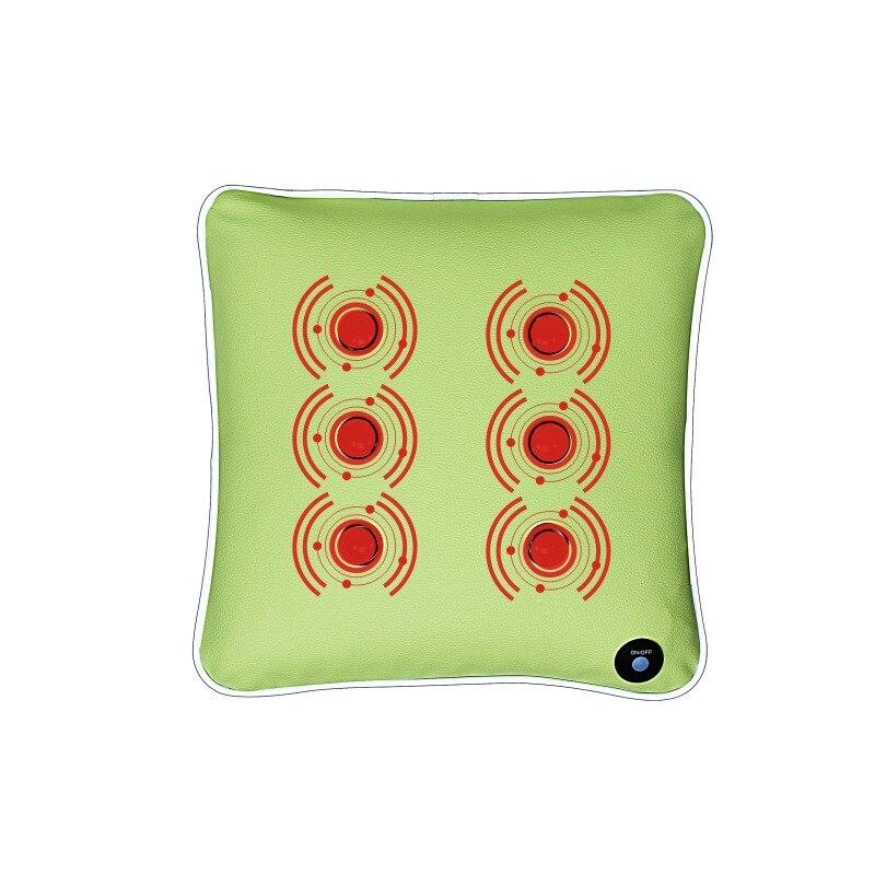 USB Wireless Rechargeable Waist Massage pillow, lumbar massager office body massage pillow, multifunctional back massager
