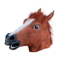 Realistic Horse Head Masks Full Head Fur Mane Latex Creepy Animal Mask For Halloween Party Costume Props  WXV Sale wholesale creepy party halloween costume animal mask full head mask dog head mask creepy fur mane latex realistic crazy rubber