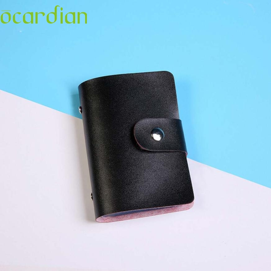 Wholesale Men Women Leather Credit Card Holder Case Card Holder Wallet Business Card Feshion