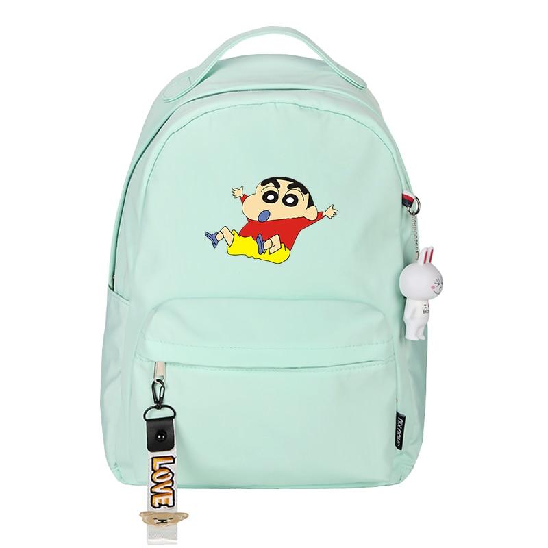 Crayon shin-chan impressão mochila kawaii crianças sacos
